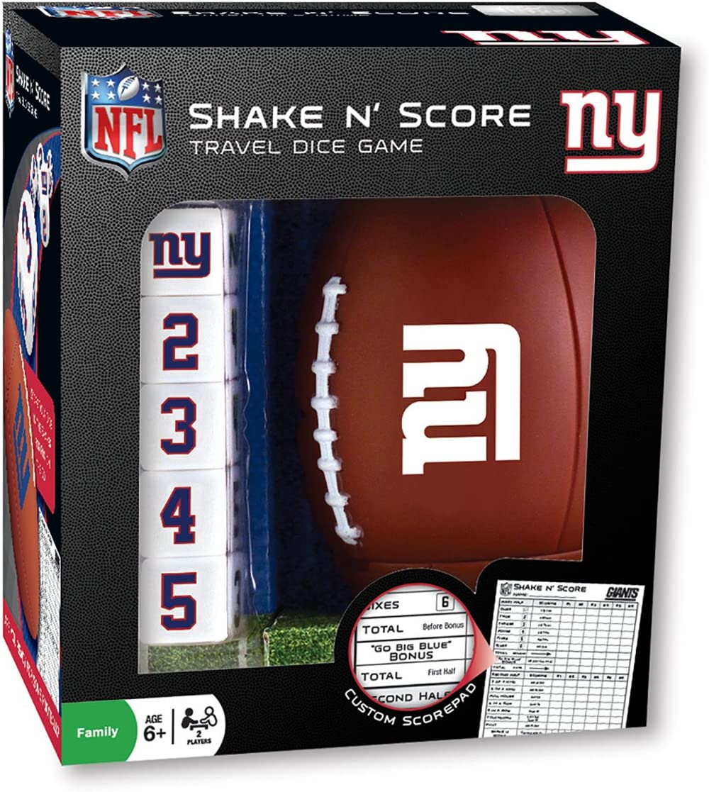 Ages 6+ for 2 Players MasterPieces NFL Seattle Seahawks Shake N Score Travel Dice Game