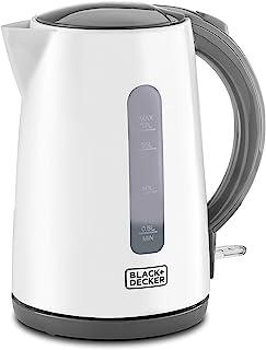 Black+Decker Concealed Coil Kettle, White, 1.7 litres, Jc70-B5, 2 Year Warranty