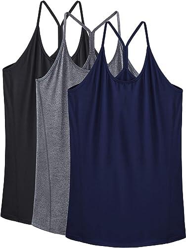 Neleus Women's Workout Tank Top Racerback Yoga Tanks Athletic Gym Shirts