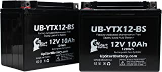 2-Pack Replacement for 2007 Aprilia RSV 1000 Mille 1000 CC Factory Activated, Maintenance Free, Motorcycle Battery - 12V, 10Ah, UB-YTX12-BS