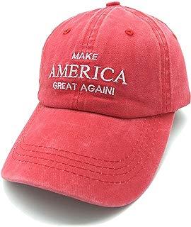 Waldeal Embroidered Unisex Make America Great Again Denim Dad Hats MAGA Adjustable Baseball Cap