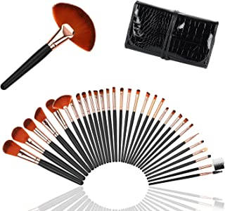 Makeup Brushes Set, Logiverl 32 Pieces Makeup Brush Set Premium Synthetic Foundation Powder Eyeshadow Eyebrow Lip Brush with Travel Case
