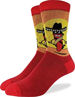 Sponsored Ad - Good Luck Sock Men`s Chilli Standoff Crew Socks - Red, Shoe Size 7-12