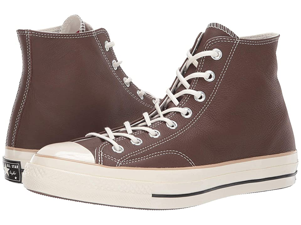 561021c64e6b Converse Chuck 70 Leather Hi (Chocolate Light Fawn Egret) Men s Lace up  casual Shoes