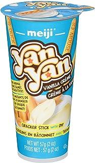 Meiji Seika Meiji Yan Cracker Sticks with Vanilla Cream Dip Cup, 57 Gram