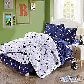 Dream Star Duvet Cover Set Home Textile Duvet Cover Set Stars Pattern Bedding Set Twin/Full/Queen/King Blue White Size 3pcs
