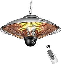 YAOBAO Estufa Colgante De Techo Tipo Calefactor Tubo Calefactor Iluminación LED, para Interior Y Exterior 2200W con Control Remoto