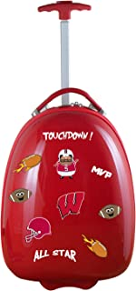 Mojo Licensing Unisex-Adult NCAA Texas A&M Aggies Kids Lil' Adventurer Luggage Pod CLTAL601_Black-P, NCAA Wisconsin Badgers Kids Lil' Adventurer Luggage Pod, CLWIL601_RED, RED, 4.8