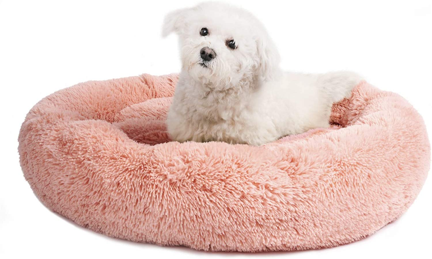 Veehoo Warming Round Dog Bed for Cats Tampa Mall Dogs Medium Washington Mall F Luxurious