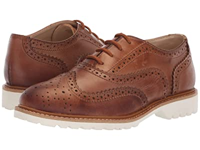 Kenneth Cole Reaction Kids Wing Brogue Leather (Little Kid/Big Kid) (Cognac) Boy