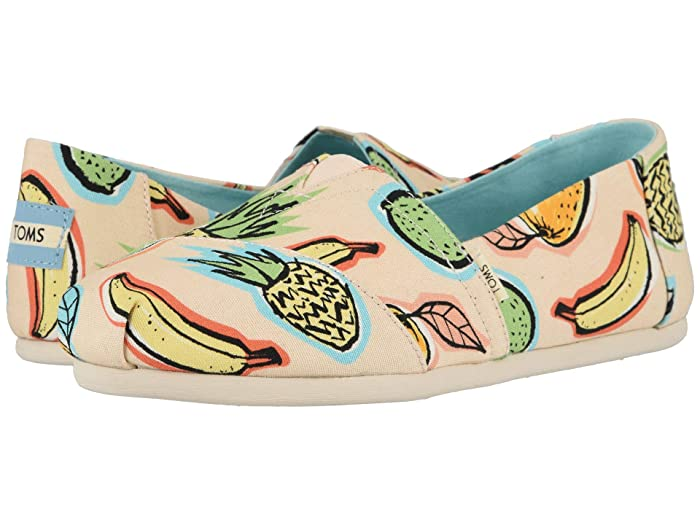 TOMS  Alpargata (Coral Pink Cuban Fruits) Womens Shoes