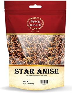 Spicy World Star Anise Pods 7 Ounce Bag - Product of India & All Natural