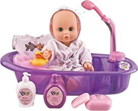 Liberty Imports Little Newborn Baby 13-Inch Bathtime Doll Bath Set – Real Working..