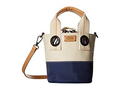 Frances Valentine Small Bucket (Natural/Navy) Handbags