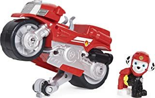 PAW Patrol, Moto Pups Marshall's Deluxe Pull Back Motorcycle Vehicle with Wheelie Feature and Figure