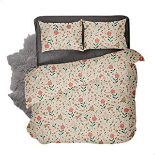 Snooze Gerb Design Fitted Bedsheet Set Of 3 Pieces - Multi Color