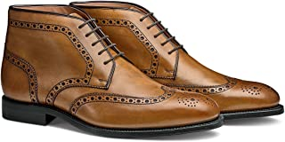 The Reed: Hand Crafted Men's Leather Brogue Wingtip Chukka Dress Boot