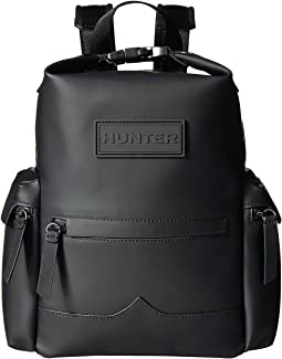 Original Mini Top Clip Backpack Rubberized Leather