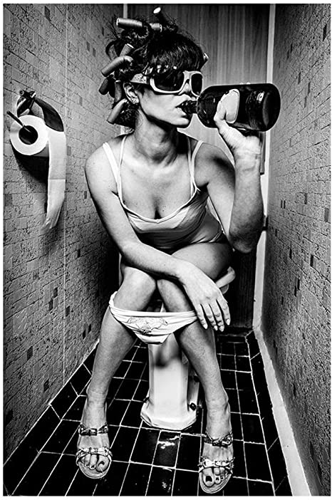Sexy girls on the toilet