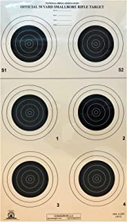 DOMAGRON 50 Yard Smallbore Rifle Official NRA Target A-23/6 T (100 Pack)