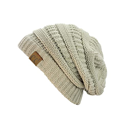5b33cbe4329 C.C Trendy Warm Chunky Soft Stretch Cable Knit Beanie Skully