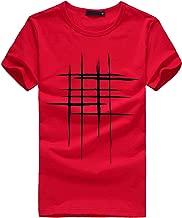 LISTHA Print Tees Men Shirt Short Sleeve Slim T Shirt Cotton Casual Blouse Tops