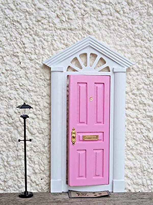 Pink Fairy Door That Opens Comes With Letter Box And Numbers To Place On It