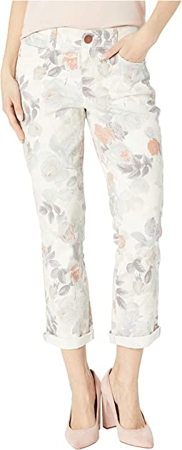 Body Sculpt Crop Jeans in Floral