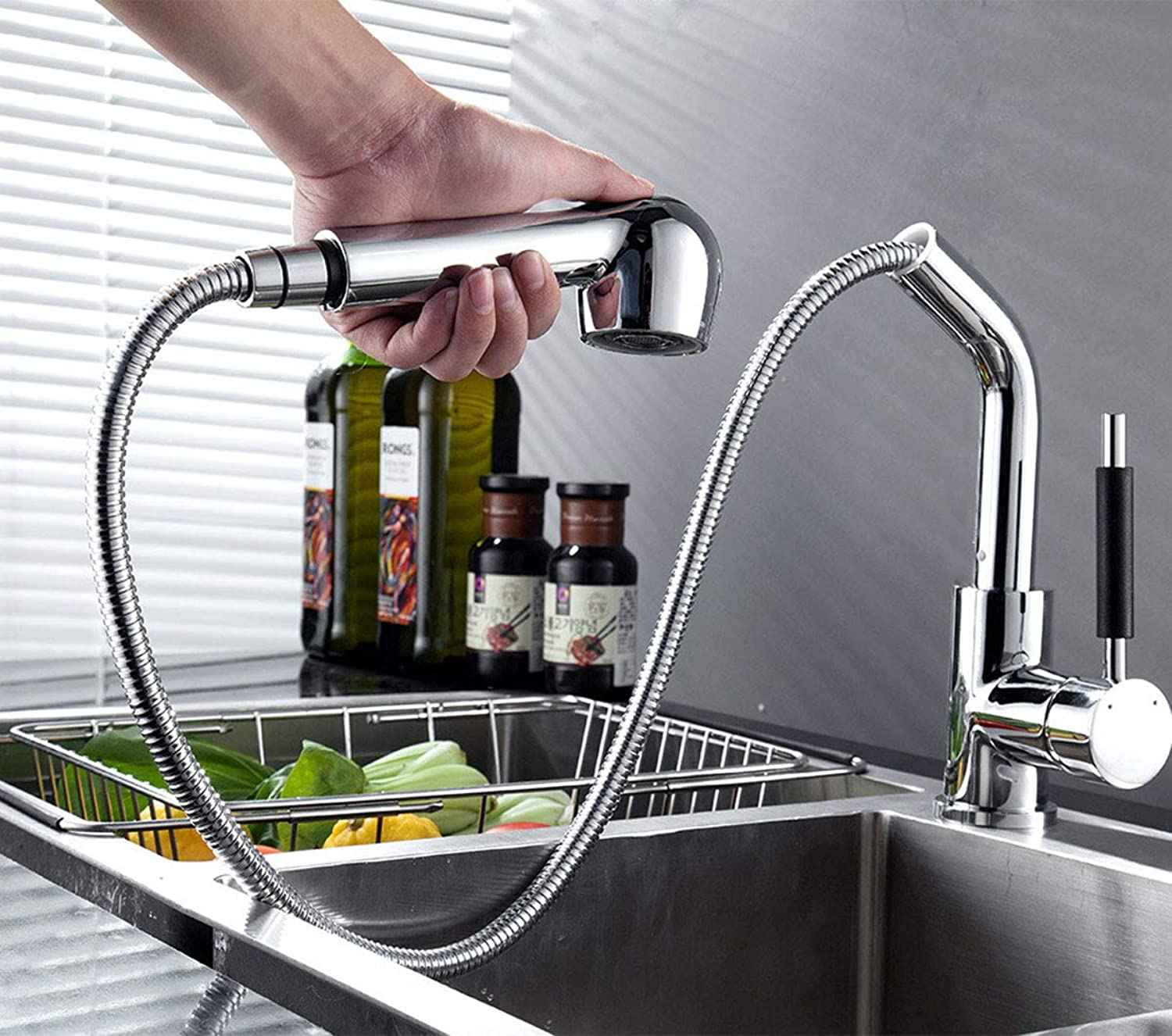 DONGCY 360°redating faucet Kitchen faucet faucet sink faucet hot and cold, copper