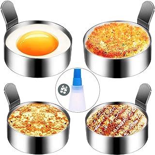 Hanamichi Anillo de Huevo, 4 pcs Inoxidable Tortilla de