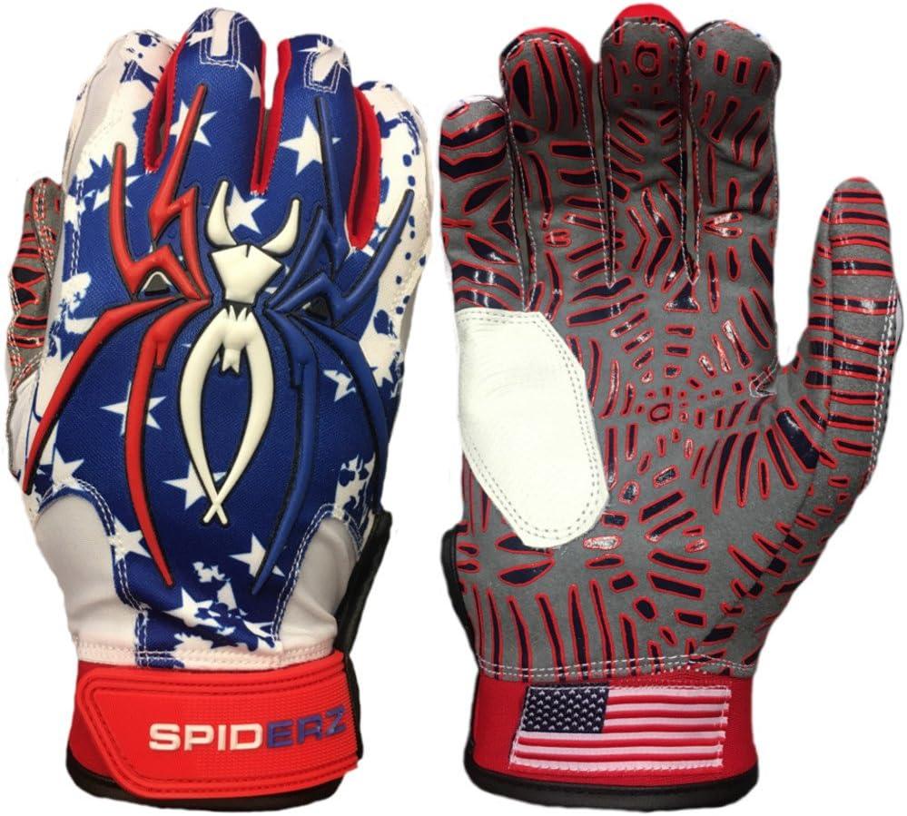 Spiderz USA Flag w/New Web Tac Grip Hybrid Baseball/Softball Bat