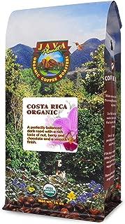 Java Planet - Costa Rican USDA Organic Coffee Beans, Dark Roast, Arabica Gourmet Coffee Grade A (14oz)