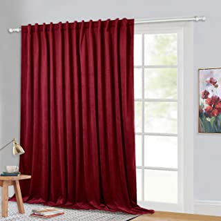StangH Super Soft Red Velvet Curtains for Living Room, Christmas Decor Large Window Velvet Sunlight Blocking Drapes for Apartment Master Bedroom Foyer Doorway, Wide 100 x Long 84, 1 Panel