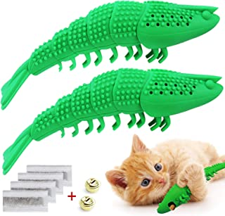 Idepet Interaktiva kattleksaker kattunge kattmynta tandborste tugga godis leksak 100 % naturligt gummi bitmotstånd hummerf...