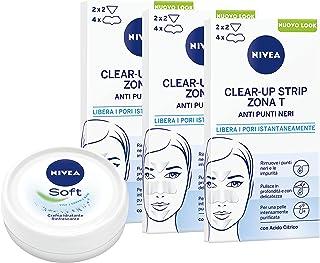 NIVEA Clear-Up Strips Zone T pleisters, mee-eters in verpakking met 3 x 6 pleisters, anti-onvolkomenheden, gezichtsreinigi...