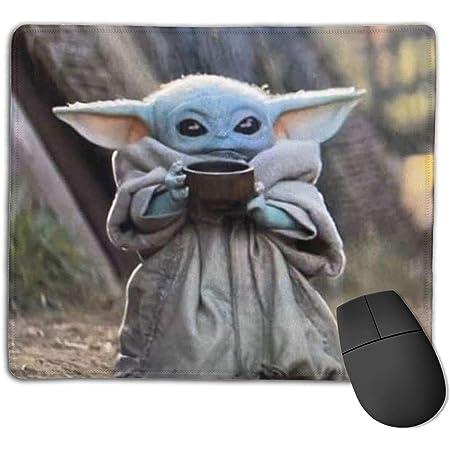 mandalorian baby yoda sad  mouse pad for laptop desktop