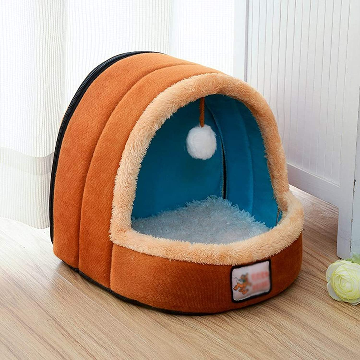 DNSJB Kennel Puppy Nest Small Dog Bed Cat Litter Removable And Washable Four Seasons General Teddy Pet Supplies (Size   S)