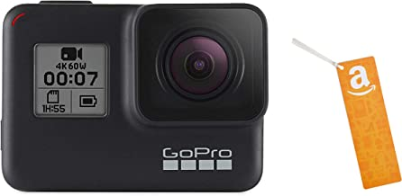 GoPro HERO7 Black — Waterproof Digital Action Camera with Touch Screen 4K HD Video 12MP Photos with Amazon.com $50 Gift Card as a Bookmark