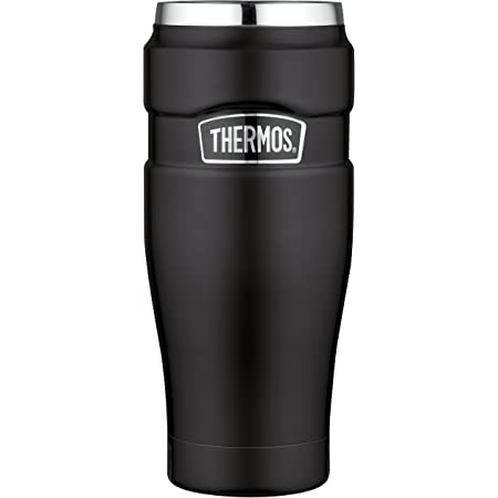 Thermos Stainless King Travel Tumbler, 16-Ounce, Matte Black