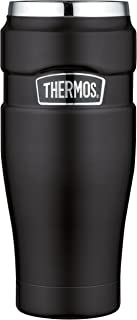 Thermos Stainless King 16 Ounce Travel Tumbler, Matte Green