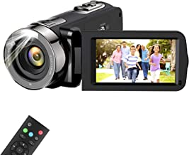 Video Camera Camcorder, wechi Full HD 1080P 15FPS 24MP Digital Camera Vlogging Recorder for YouTube 3.0 Inch Touch LCD Dis...