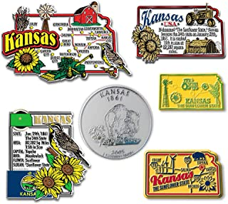 Six-Piece State Magnet Set - Kansas