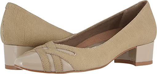 Light Taupe Bubble Leather/Patent