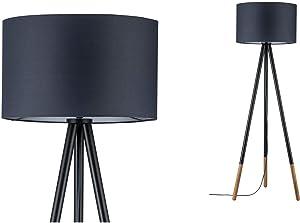 Paulmann 79633 Neordic Rurik Stehleuchte max. 1x20W Stehlampe für E27 Lampen Standleuchte mit Stoffschirm Grau/Holz 230V ohne Leuchtmittel, Stoff
