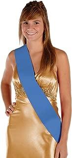 Satin Sash (blue) Party Accessory  (1 count) (1/Pkg)