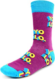 Men's Fun Crew Socks, Sock Size 10-13/Shoe Size 6-12.5, Great NEW Styles, Great Holiday/Birthday Gift