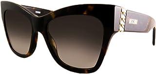 Moschino Wayfarer Sunglasses for Women - Brown Lens, MOS011/S 086FQ