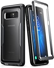 i-Blason Case for Galaxy Note 8, [Magma Series] Built-in Screen Protective Clear Back Cover with Holster [Heavy Duty] Belt Clip Shell (Black)