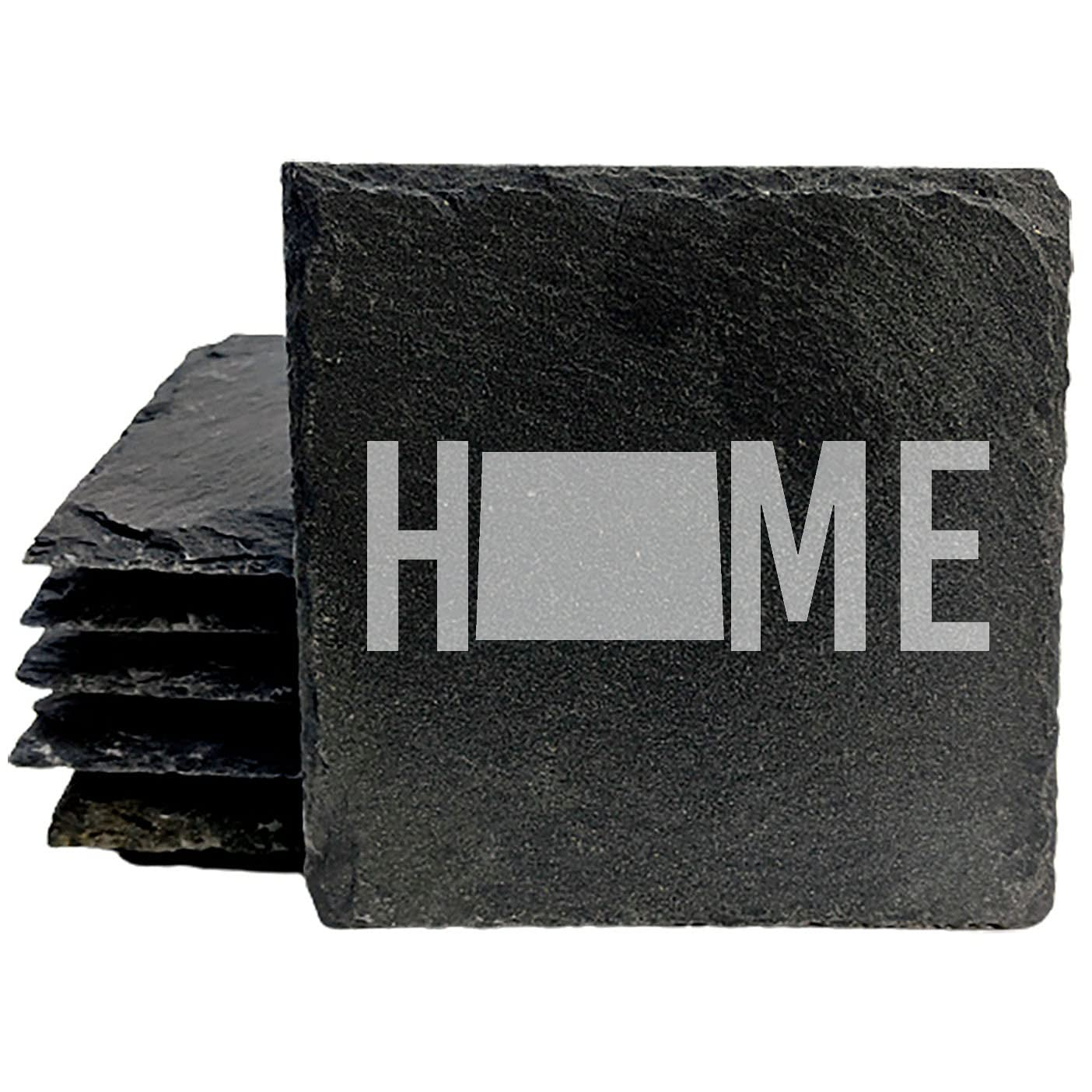 Colorado Home Coasters - Popularity Square 2021 spring and summer new set Slate of 6