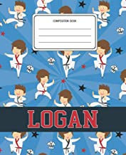Composition Book Logan: Martial Arts Pattern Composition Book Name Logan Personalized Lined Wide Rule Notebook for Boys Kids Back to School Preschool Kindergarten and Elementary Grades K-2